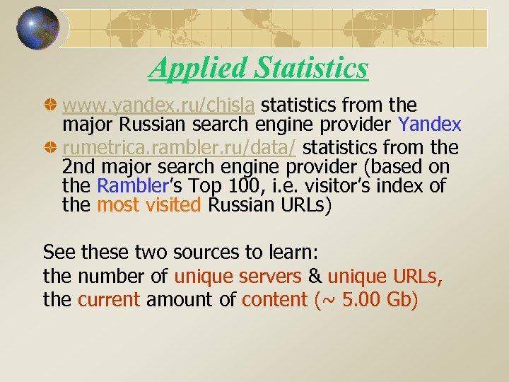 Internet Research in Russia Alexander VOISKOUNSKY December 21