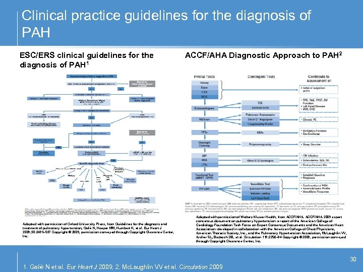Clinical practice guidelines for the diagnosis of PAH ESC/ERS clinical guidelines for the diagnosis