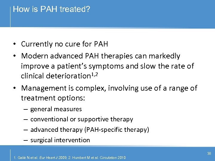 How is PAH treated? • Currently no cure for PAH • Modern advanced PAH