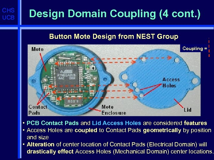 CHS UCB Design Domain Coupling (4 cont. ) Button Mote Design from NEST Group