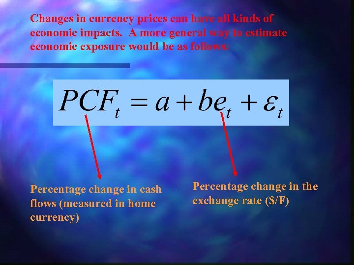 Changes in currency prices can have all kinds of economic impacts. A more general