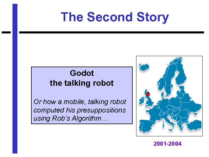 The Second Story Godot the talking robot Or how a mobile, talking robot computed