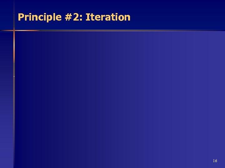 Principle #2: Iteration 16