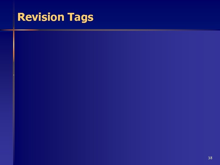 Revision Tags 38