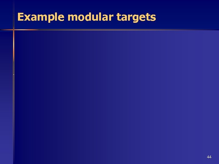 Example modular targets 44