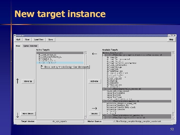New target instance 52
