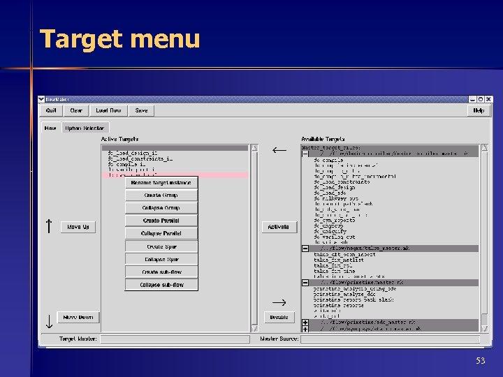Target menu 53