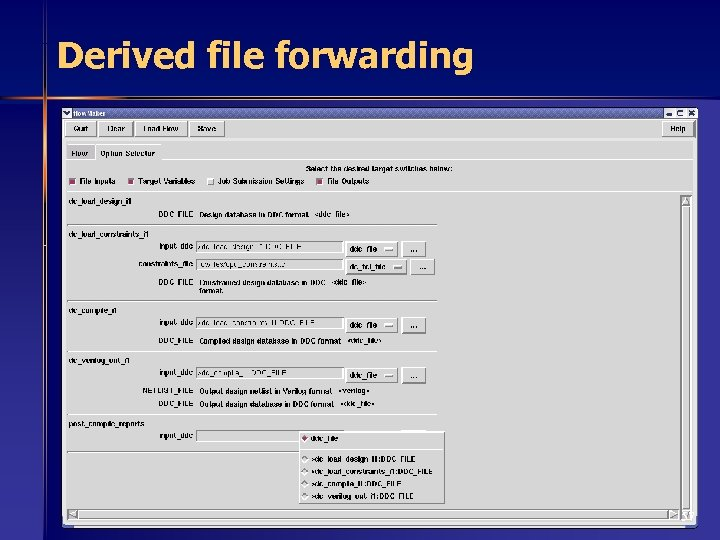 Derived file forwarding 57