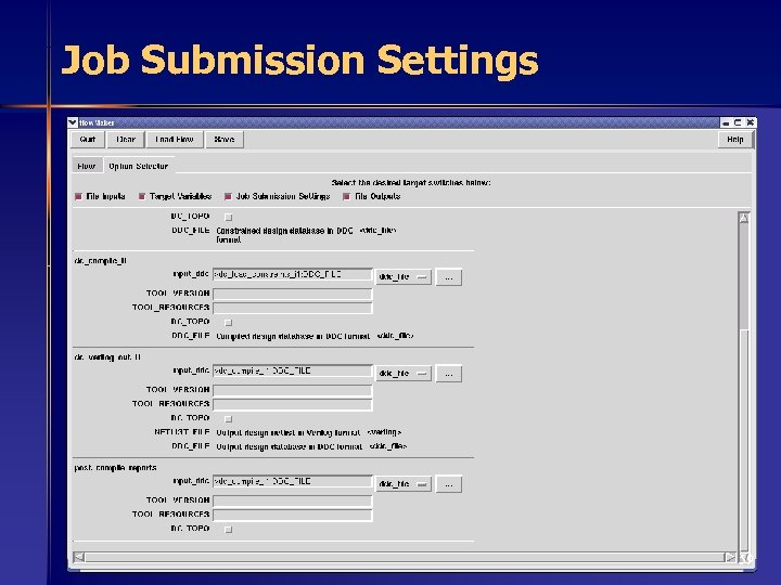 Job Submission Settings 59
