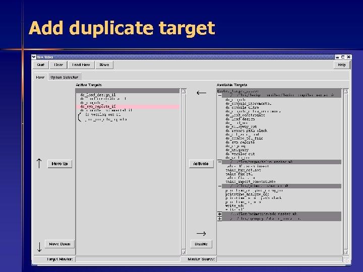 Add duplicate target 66
