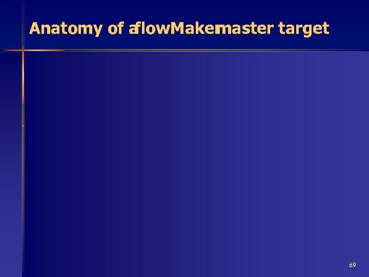 Anatomy of a flow. Maker master target 69