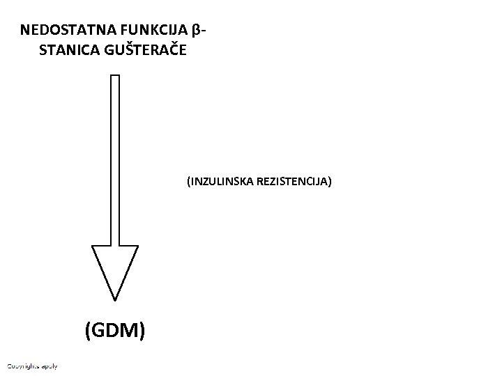 NEDOSTATNA FUNKCIJA βSTANICA GUŠTERAČE (INZULINSKA REZISTENCIJA) (GDM)