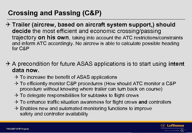 Crossing and Passing (C&P) Q Trailer (aircrew, based on aircraft system support, ) should