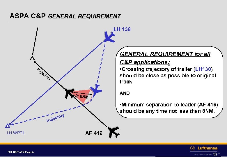 ASPA C&P GENERAL REQUIREMENT LH 138 GENERAL REQUIREMENT for all C&P applications: tra je