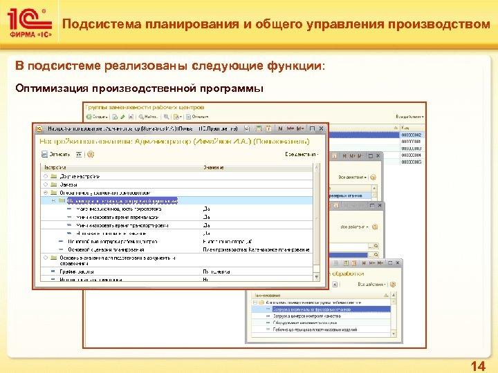 Подсистема планирования и общего управления производством В подсистеме реализованы следующие функции: Оптимизация производственной программы