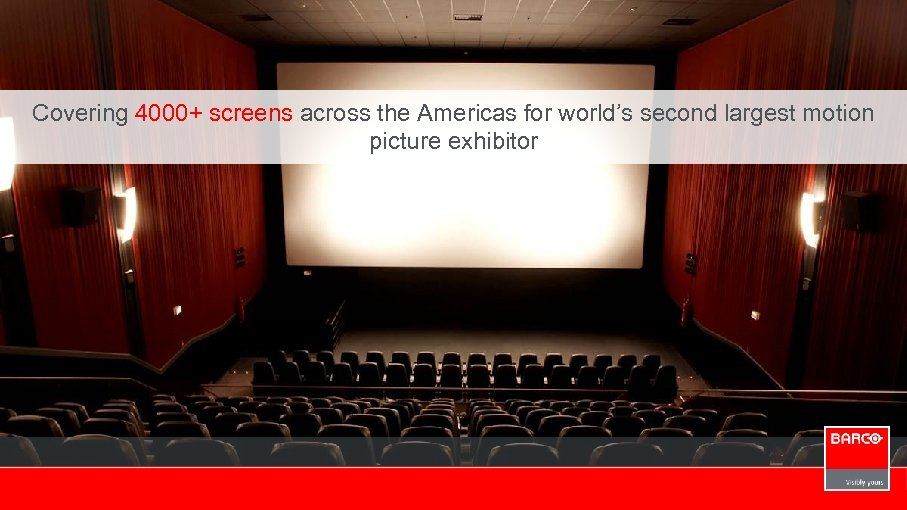 Covering 4000+ screens across the Americas for world's second largest motion picture exhibitor