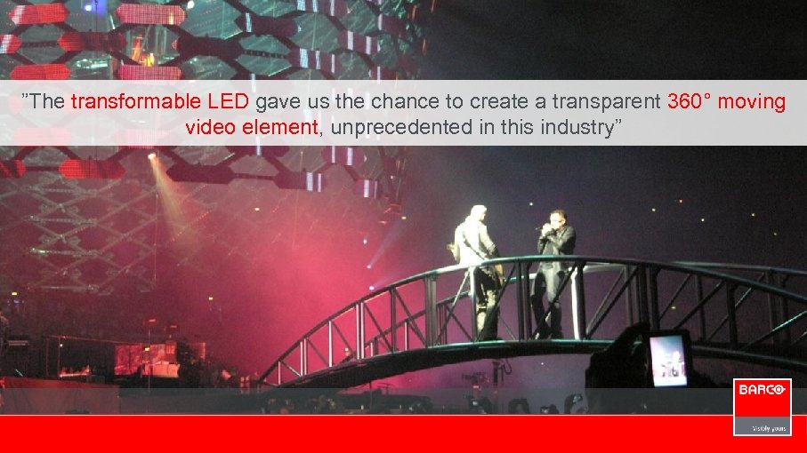 """""""The transformable LED gave us the chance to create a transparent 360° moving video"""