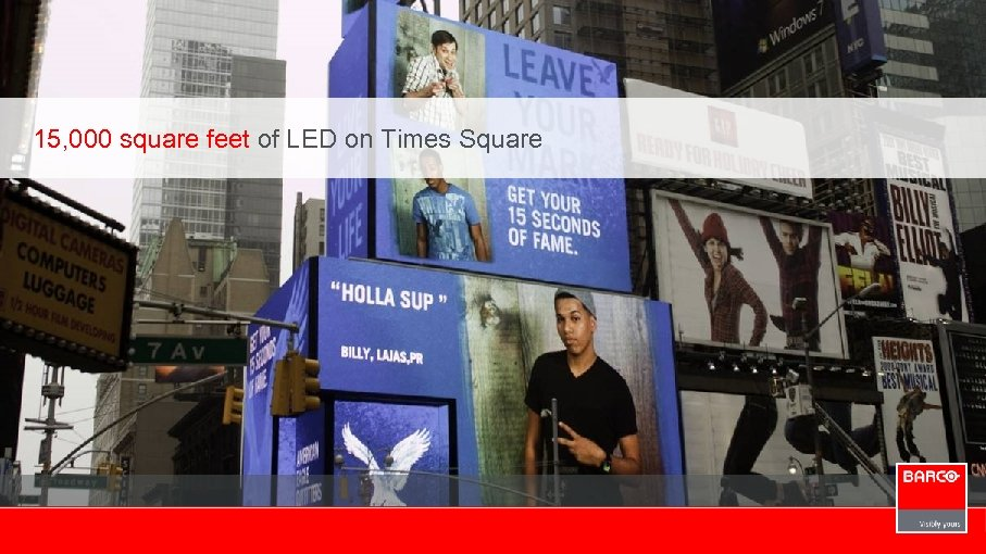 15, 000 square feet of LED on Times Square