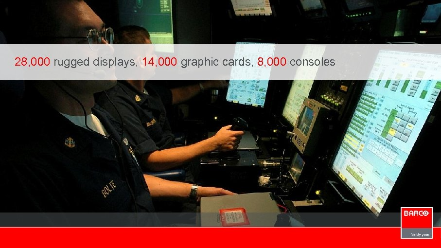 28, 000 rugged displays, 14, 000 graphic cards, 8, 000 consoles