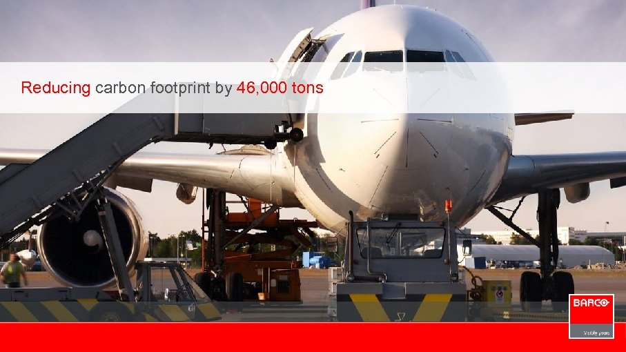 Reducing carbon footprint by 46, 000 tons