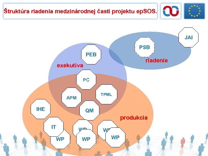 Štruktúra riadenia medzinárodnej časti projektu ep. SOS. JAI PSB PEB riadenie exekutíva PC TPML