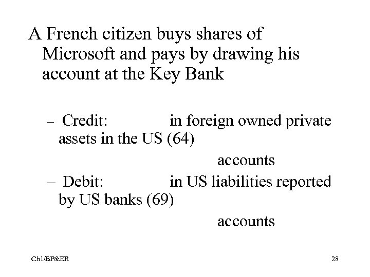 A French citizen buys shares of Microsoft and pays by drawing his account at