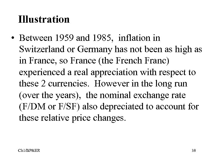 Illustration • Between 1959 and 1985, inflation in Switzerland or Germany has not been