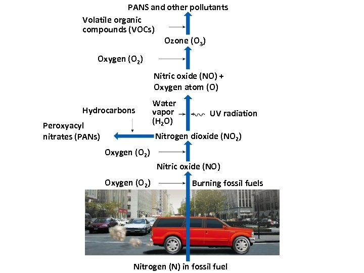 PANS and other pollutants Volatile organic compounds (VOCs) Ozone (O 3) Oxygen (O 2)