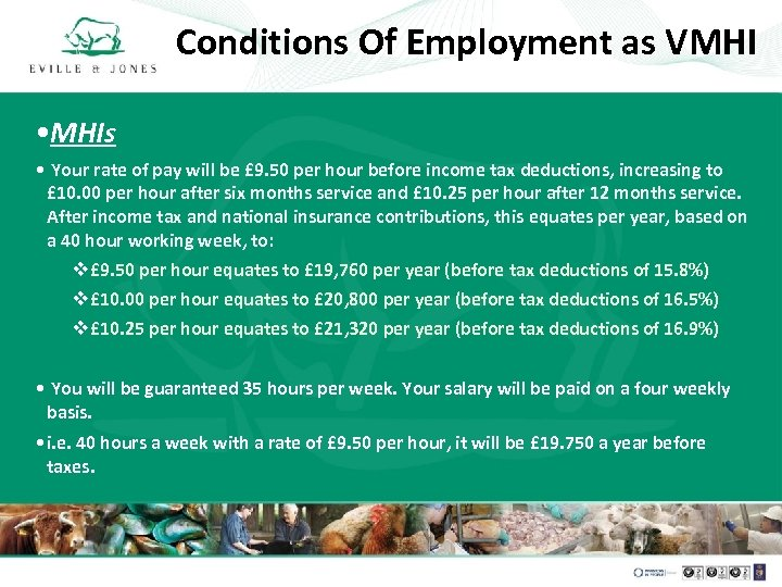 Conditions Of Employment as VMHI • MHIs • Your rate of pay will be