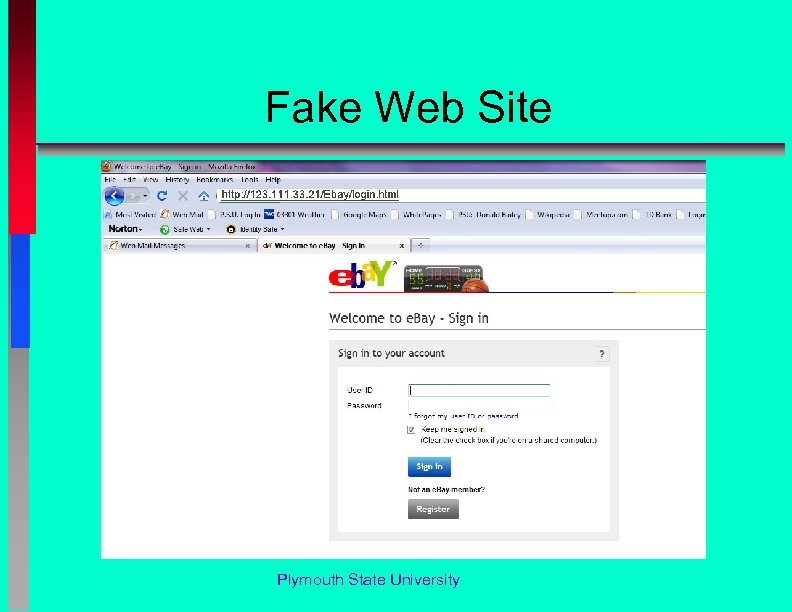 Fake Web Site Plymouth State University