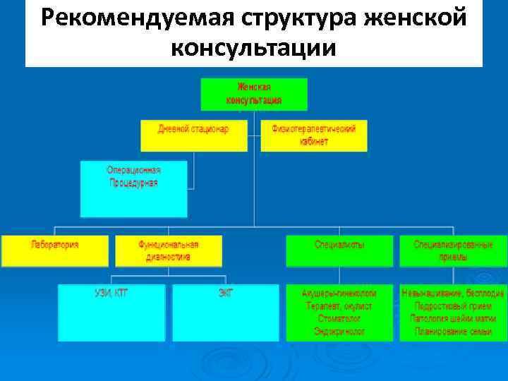 Рекомендуемая структура женской консультации