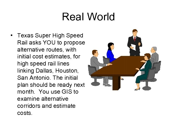 Real World • Texas Super High Speed Rail asks YOU to propose alternative routes,