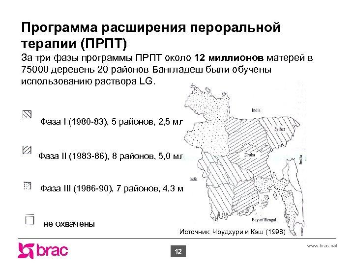 Программа расширения пероральной терапии (ПРПТ) За три фазы программы ПРПТ около 12 миллионов матерей