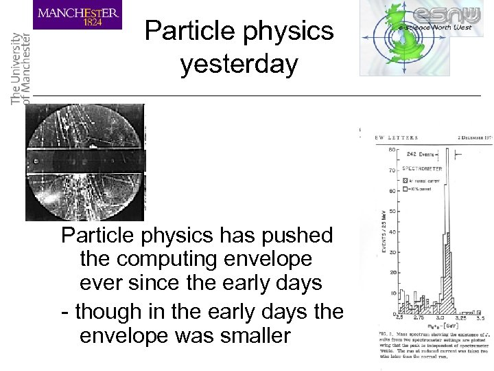 Particle physics yesterday Particle physics has pushed the computing envelope ever since the early