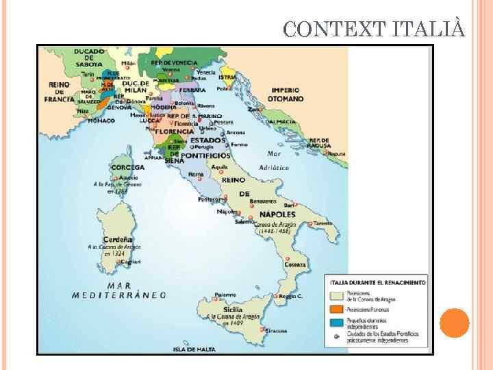 CONTEXT ITALIÀ