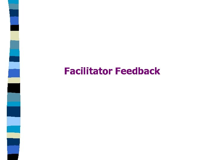 Facilitator Feedback