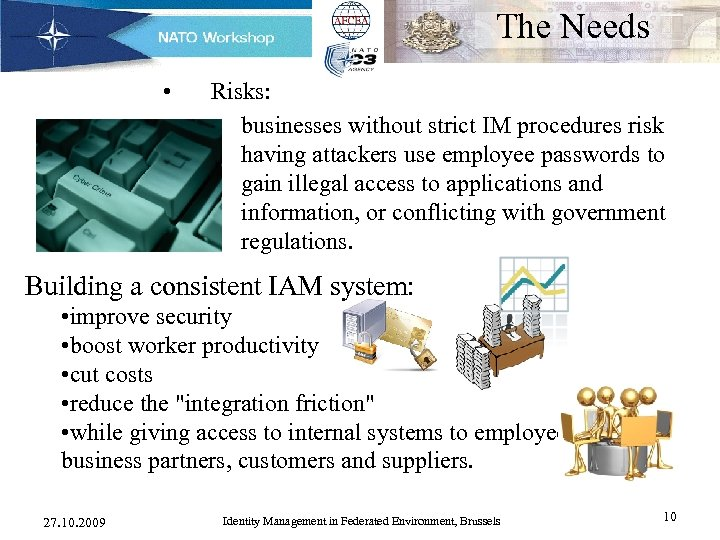 The Needs • Risks: – businesses without strict IM procedures risk having attackers use