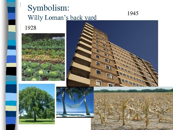 Symbolism: Willy Loman's back yard 1928 1945