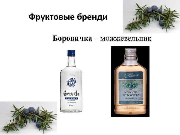 Фруктовые бренди Боровичка – можжевельник