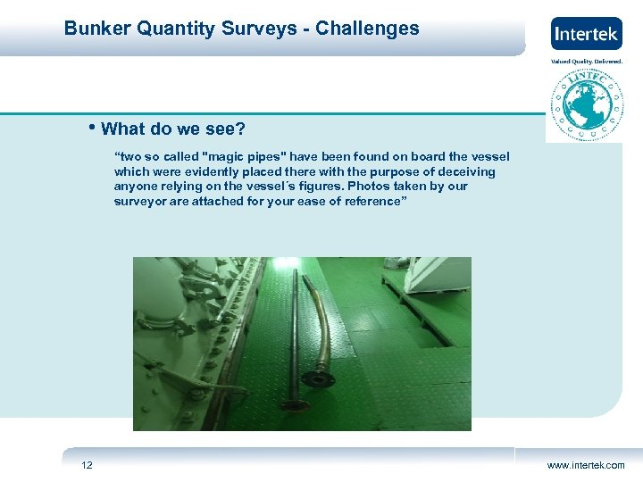 """Bunker Quantity Surveys - Challenges • What do we see? """"two so called"""
