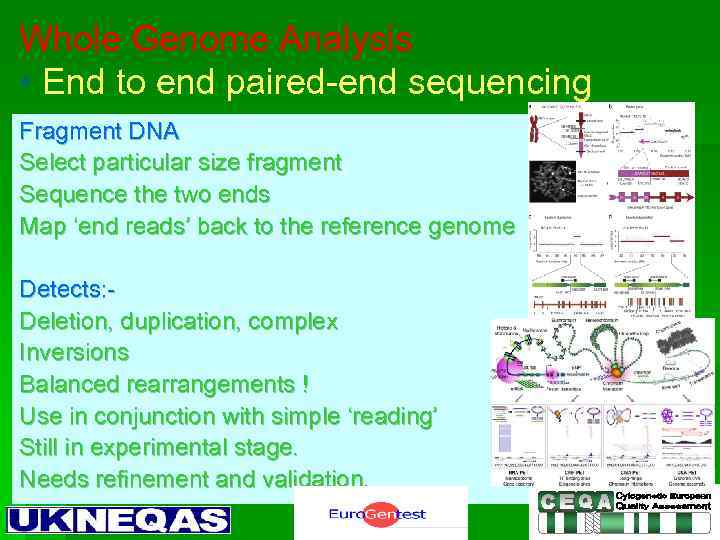 Whole Genome Analysis • End to end paired-end sequencing Fragment DNA Select particular size