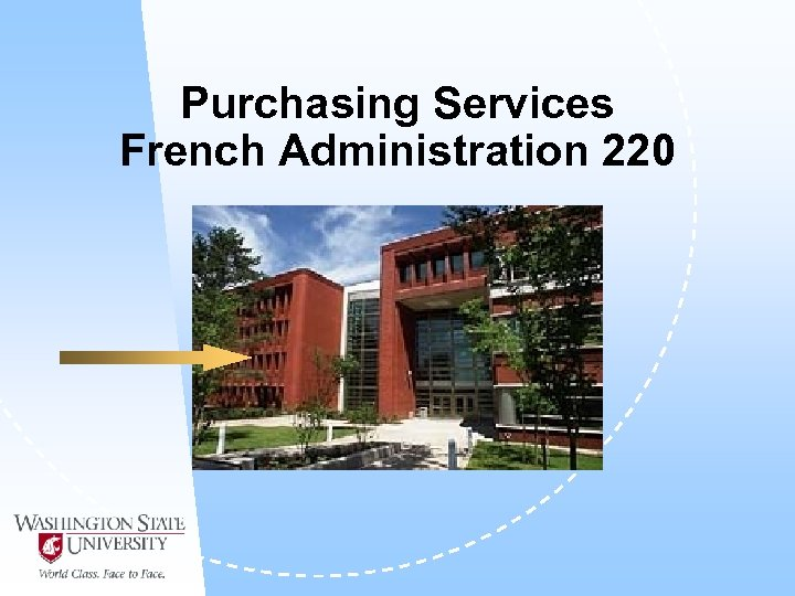Purchasing Services French Administration 220