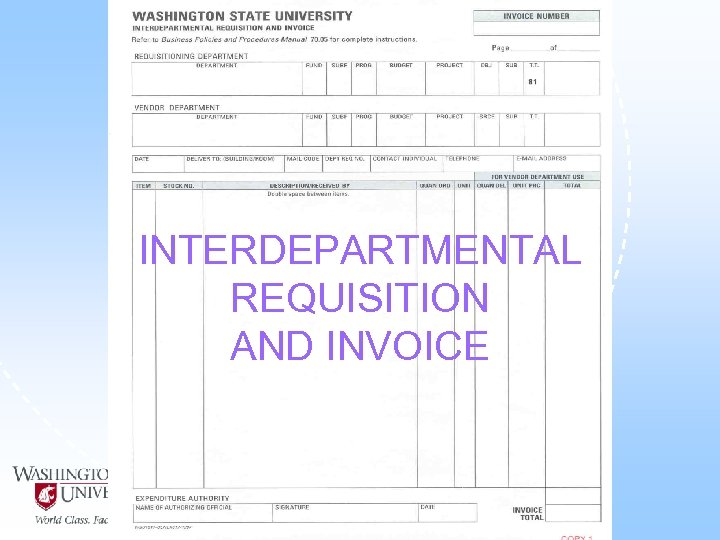 INTERDEPARTMENTAL REQUISITION AND INVOICE