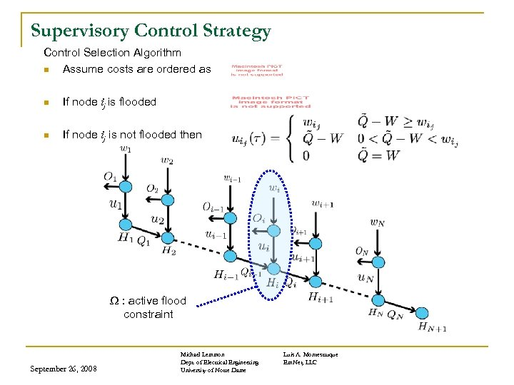Supervisory Control Strategy Control Selection Algorithm n Assume costs are ordered as n If