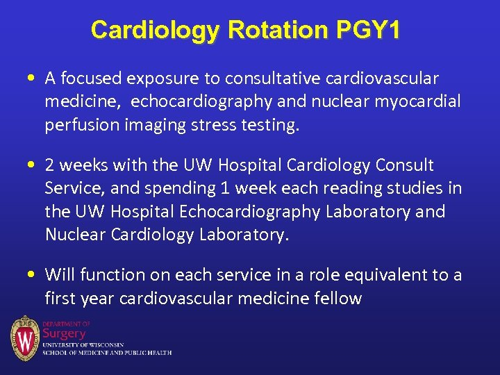 Cardiology Rotation PGY 1 • A focused exposure to consultative cardiovascular medicine, echocardiography and