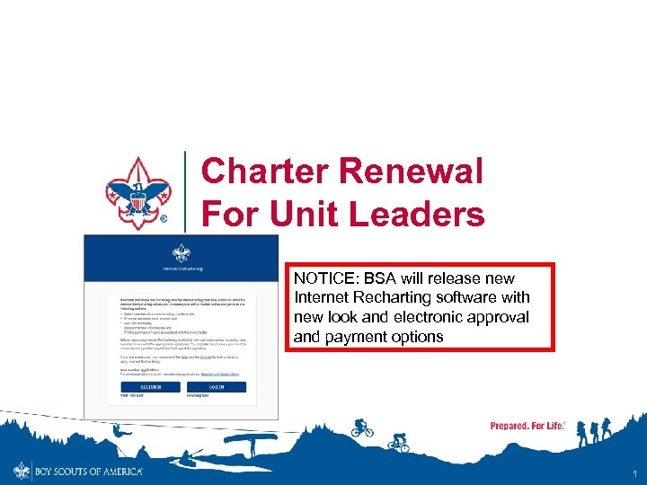 Charter Renewal For Unit Leaders Notice Bsa Will