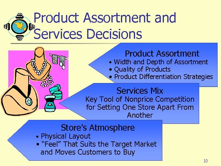 Product Assortment and Services Decisions Product Assortment • Width and Depth of Assortment •