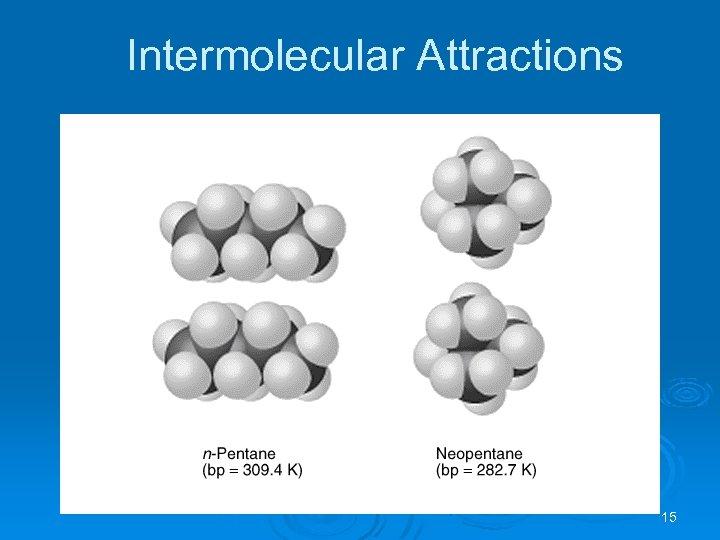 Intermolecular Attractions 15