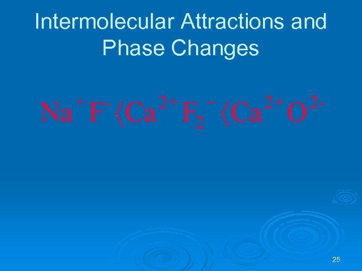 Intermolecular Attractions and Phase Changes 25