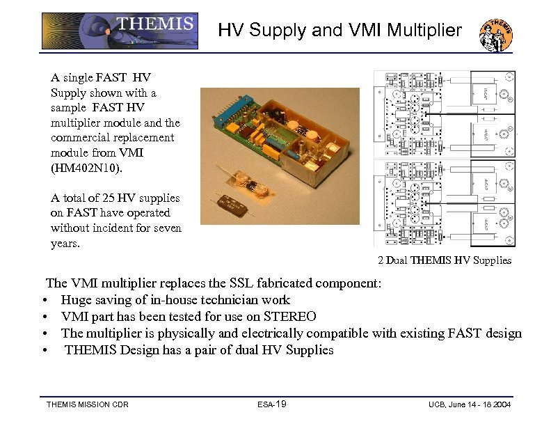 HV Supply and VMI Multiplier A single FAST HV Supply shown with a sample